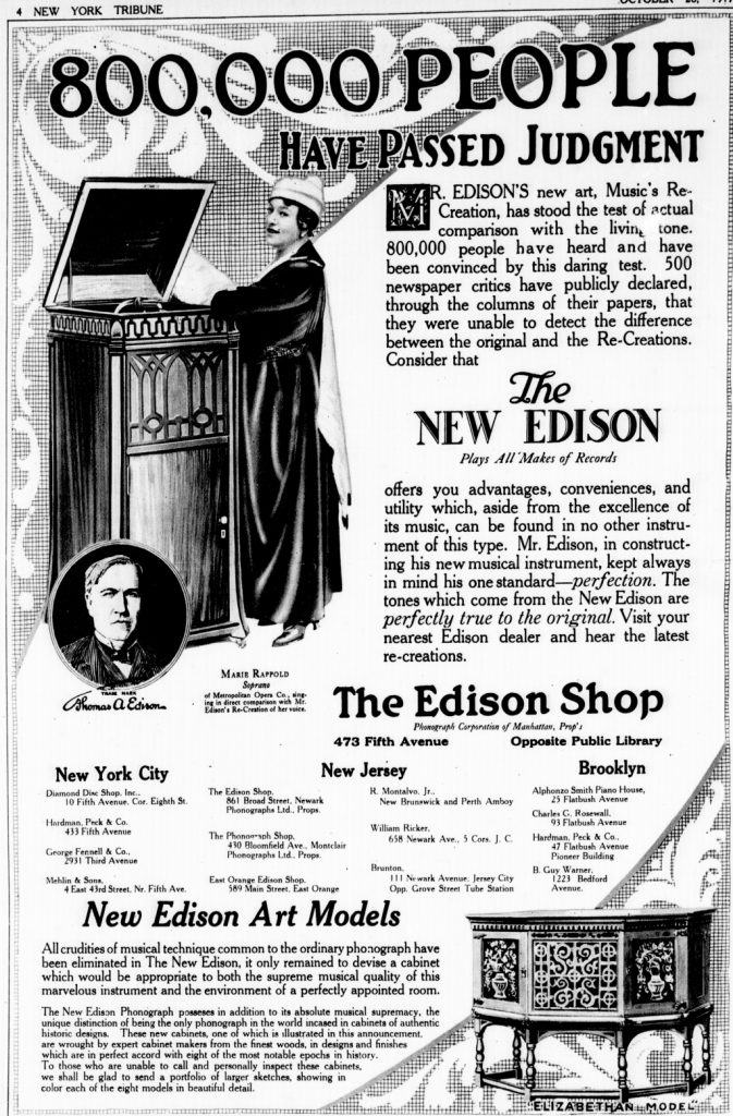 1917 New Edison Phonograph