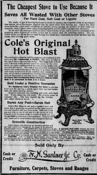 Coles Original Hot Blast Stove