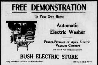 1916 Automatic Electric Washer