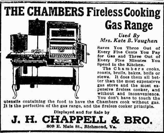 Chambers Fireless Gas Range 1917