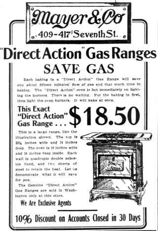 1911 Direct Action Gas Range