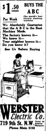 1922 abc electric washer
