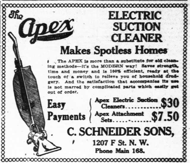 Apex Electric Suction 1917