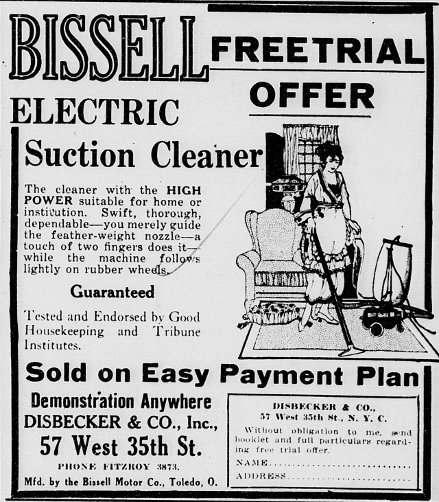 1920 bissell electric suction