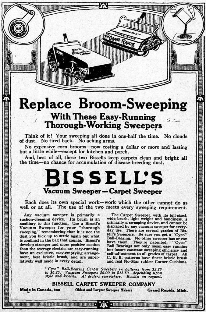 1918 bissell sweeper