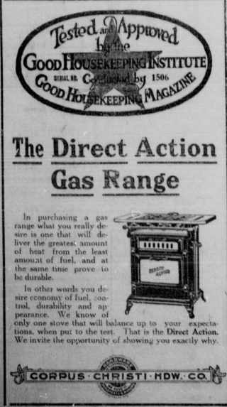 1916 direct action gas range