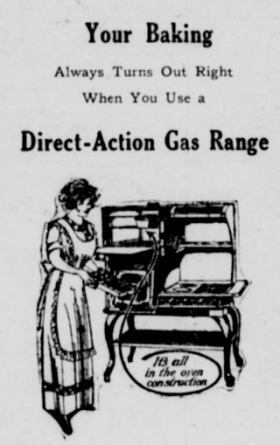 1913 direct gas range
