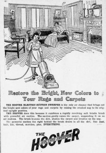 Hoover Special Suction Sweeper 1912