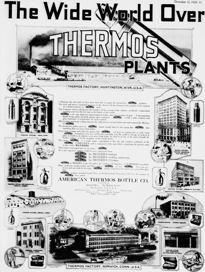 where thermos was made 1920