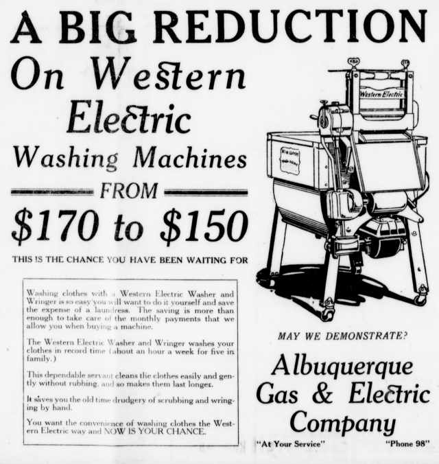 1921 WE washer