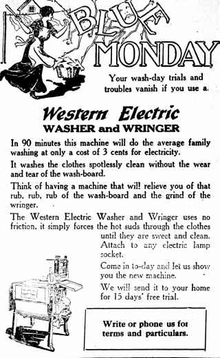 western electric washer