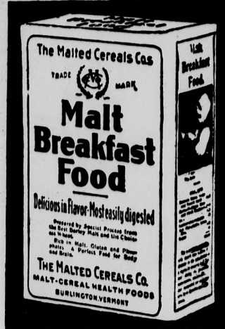 malted cereal company 1901