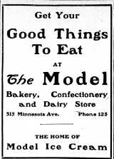 1907 model ice cream ad