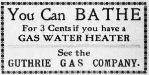 Vintage Gas Water Heater Advertisement